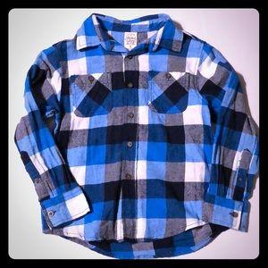 Boys size 8 flannel shirt